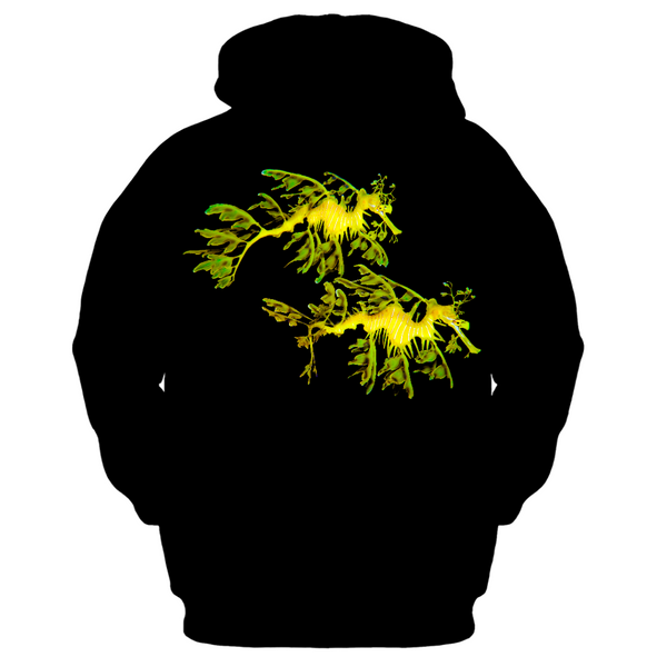 Leafy Sea Dragon Couple Women's Zip-up Hoodie