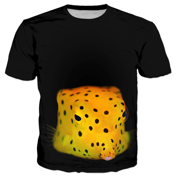 Yellow Spotted Box Fish Kid's T-shirts