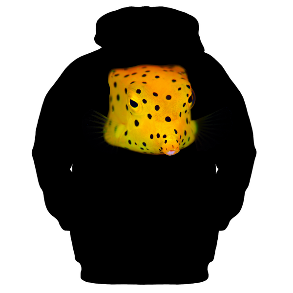 Yellow Spotted Box Fish Kid's Zip-up Hoodie