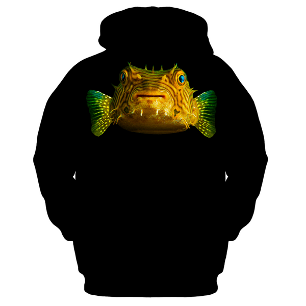 Porcupine Pufferfish Men's Zip-up Hoodie