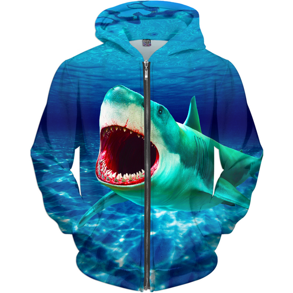 Scary Water Kid's Zip-up Hoodie