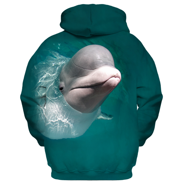 Beluga Whale Kid's Zip-Up Hoodie