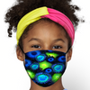 Blue and Green Zoanthid Garden Face Mask