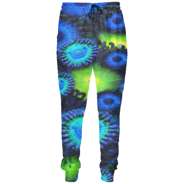 Blue and Green Zoanthid Garden Joggers
