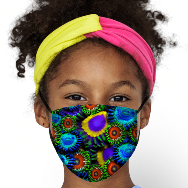 Multi Colored Zoanthid Garden Face Mask