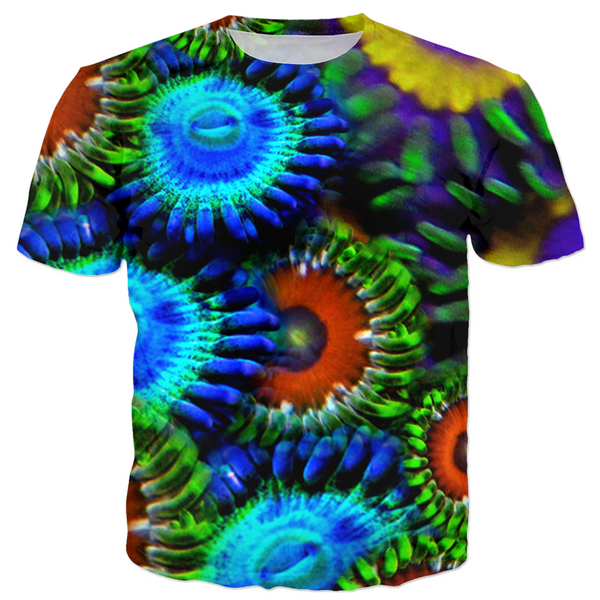 Multi Colored Zoanthid Garden Kid's T-Shirt