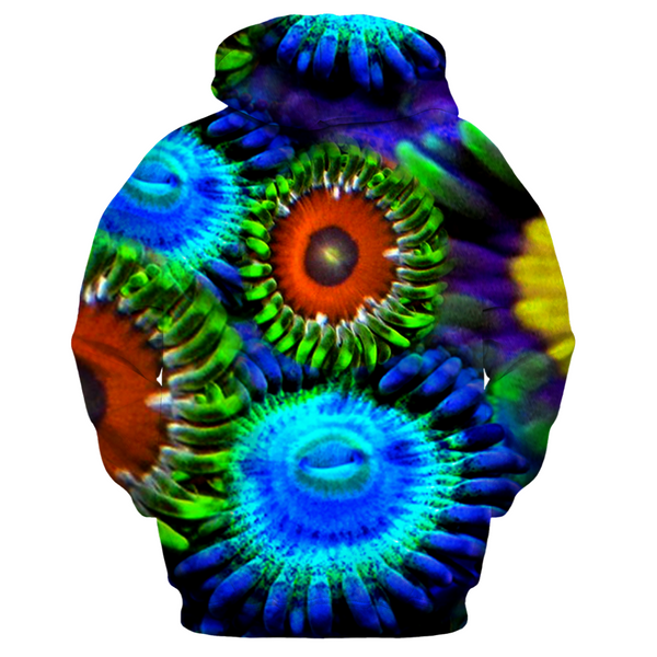 Multi Colored Zoanthid Garden Men's Zip-up Hoodie