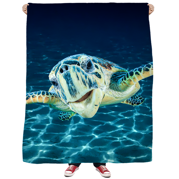 Cool Dude Turtle Blankets