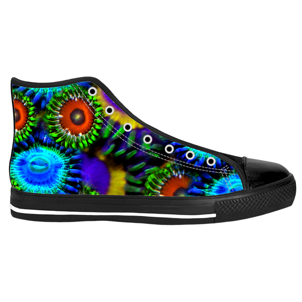 Multi Colored Zoanthid Garden High Top Sneakers