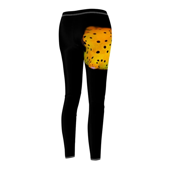 Women's Yellow Spotted Box Fish Casual Leggings