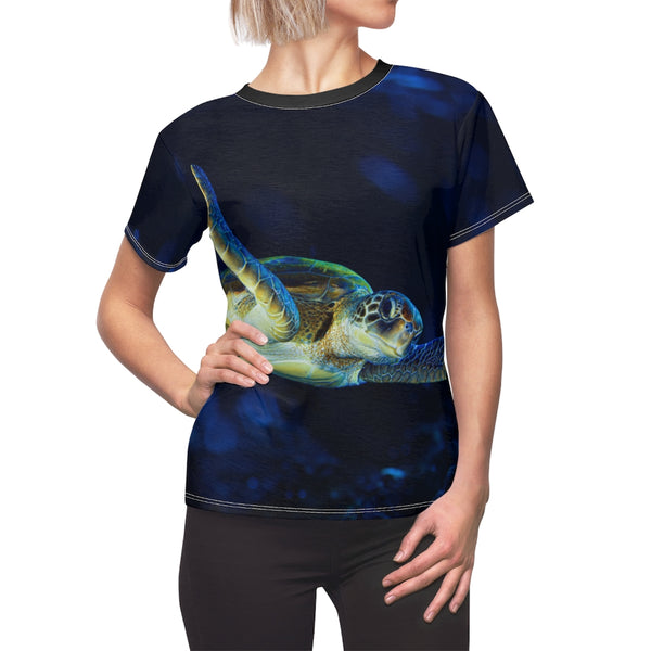 Women's Dark Blue Turtle Tee