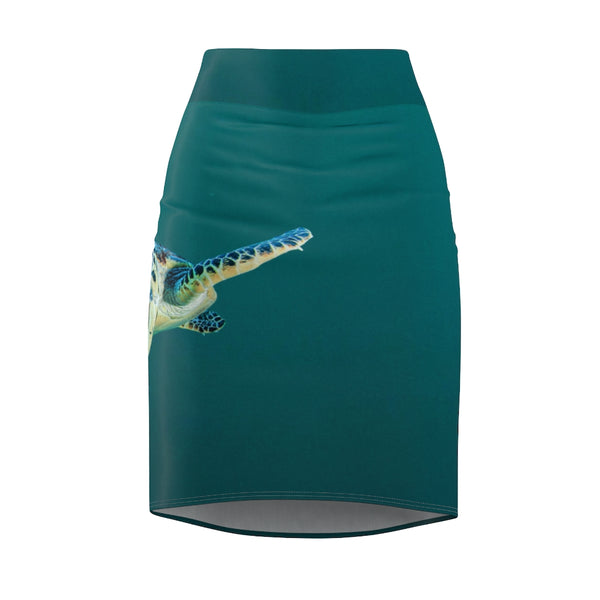 Women's Cool Dude Turtle Pencil Skirt