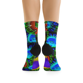 Multi Colored Zoanthid Garden DTG Socks