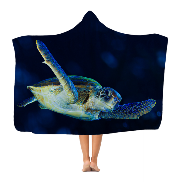 Blue Turtle Premium Adult Hooded Blanket