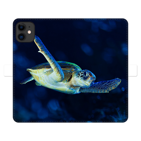 Blue Turtle Fully Printed Wallet Cases