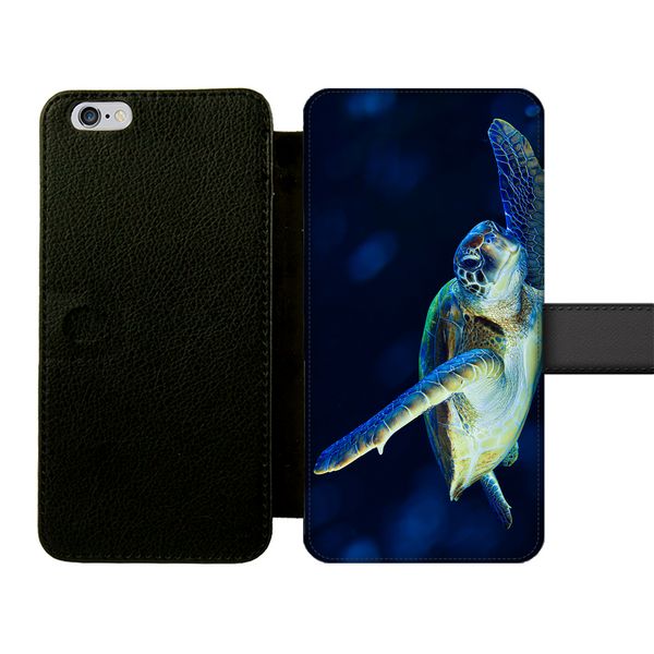 Blue Turtle Front Printed Wallet Cases