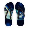 Blue Turtle Adult Flip Flops
