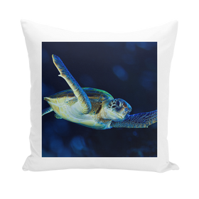 Blue Turtle Throw Pillows