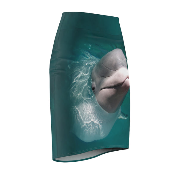 Beluga Whale Women's Pencil Skirt