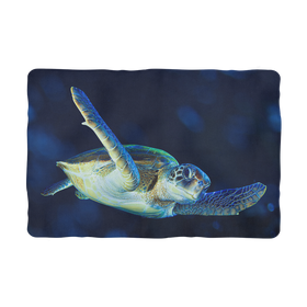 Blue Turtle Sublimation Pet Blanket