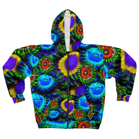 Multi Colored Zoanthid Garden Unisex Zip Hoodie