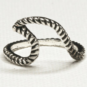 Silver Large Wave Ring