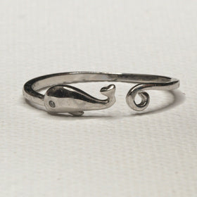 Silver Whale-of-a-Ring Open Style Ring