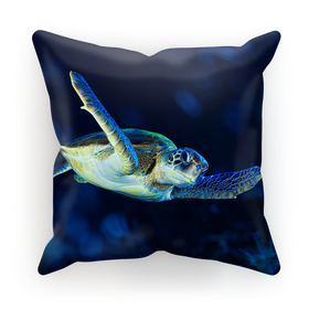 Blue Turtle Sublimation Cushion Cover