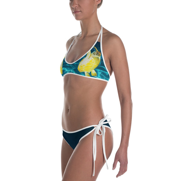 Jumpy Turtle All Over Print Bikini