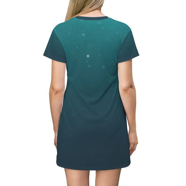 Swimming Turtle T-Shirt Dress