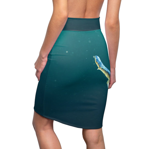 Women's Swimming Turtle Pencil Skirt