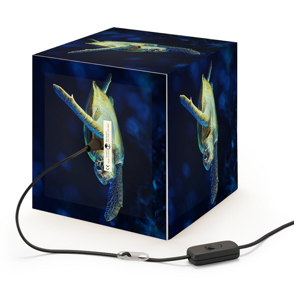 Dark Blue Turtle Personalized Lamp