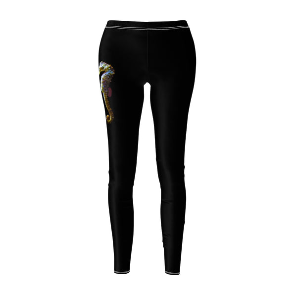 Women's Seahorse Couple Casual Leggings