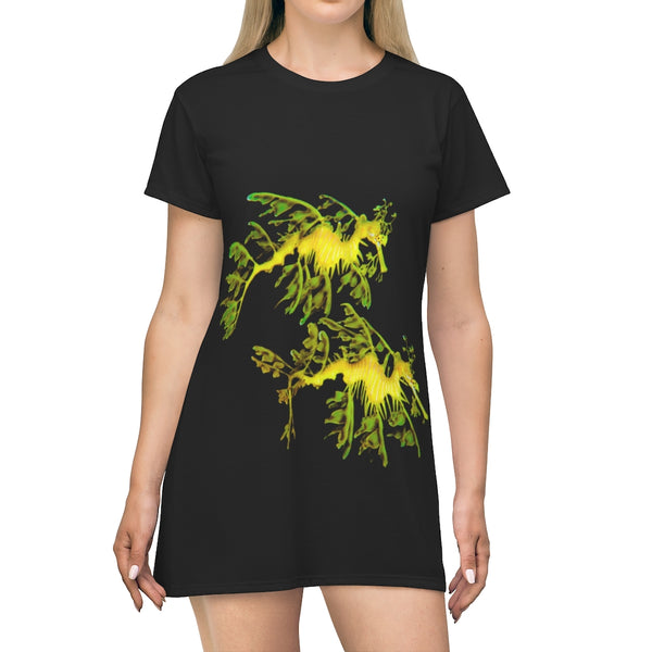 Leafy SeaDragon Couple T-Shirt Dress
