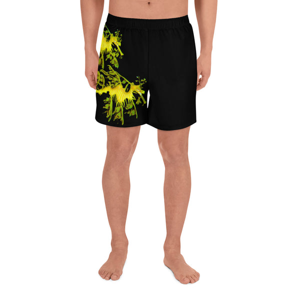 Men's Leafy SeaDragon Couple Athletic Long Shorts