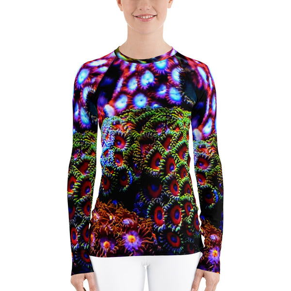 Zoanthid Garden Women's Rash Guard