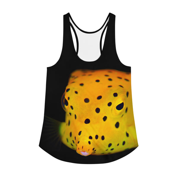 Yellow Spotted Box Fish Women's Racerback Tank