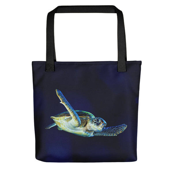 Dark Blue Turtle Tote bag