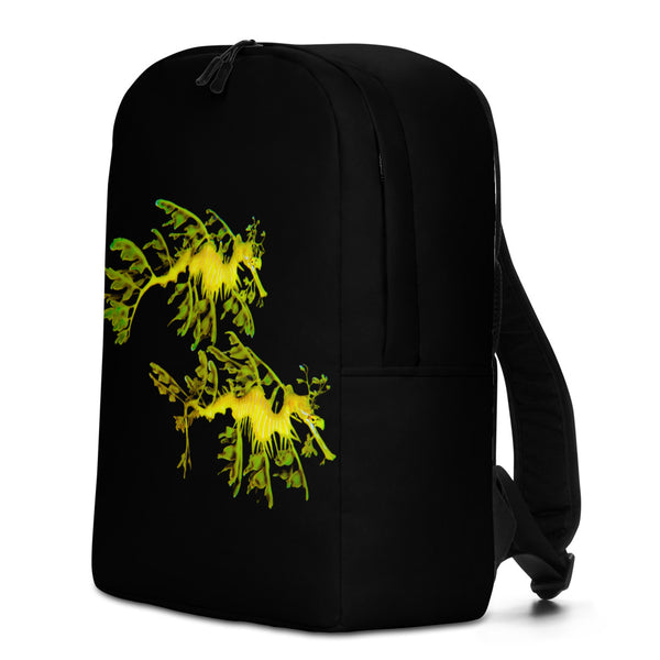 Leafy Sea Couple Dragon  Minimalist Backpack