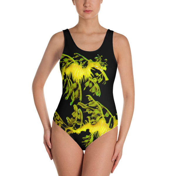 One-Piece Leafy SeaDragon Couple Swimsuit