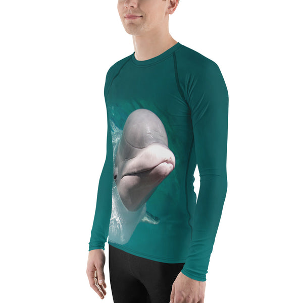 Beluga Whale Men's Rash Guard