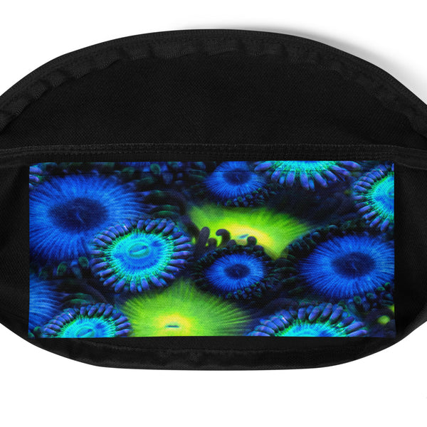 Blue and Green Zoanthid Garden Fanny Pack