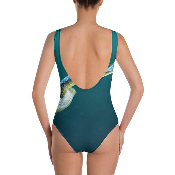 Swimming Turtle One-Piece Swimsuit