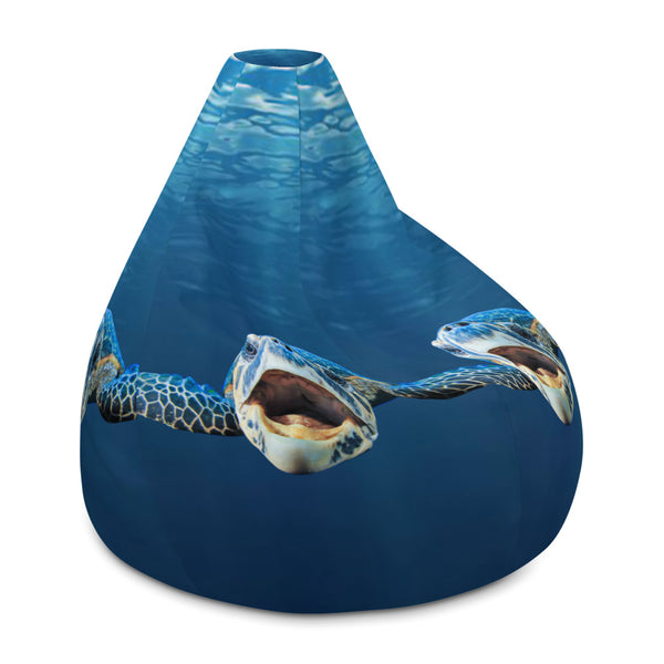 Cranky Turtle Bean Bag Chair Cover