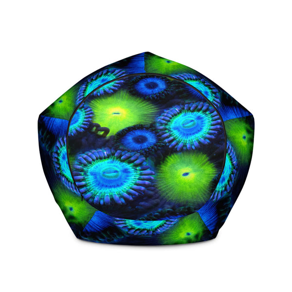 Blue and Green Zoanthid Garden Bean Bag Chair Cover