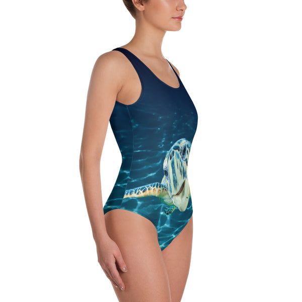 Cool Dude Turtle One-Piece Swimsuit