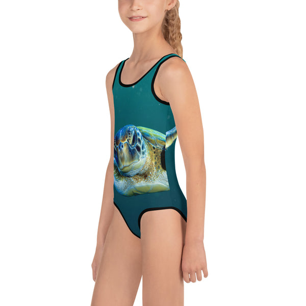 Swimming Turtle Kids Swimsuit