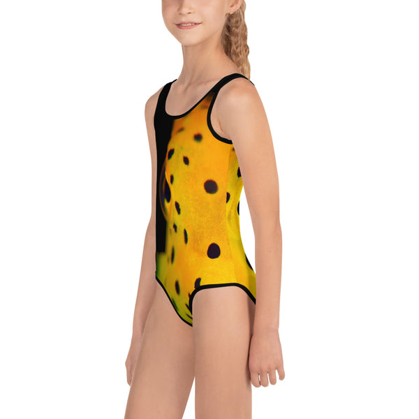 Yellow Spotted Box Fish Kids Swimsuit