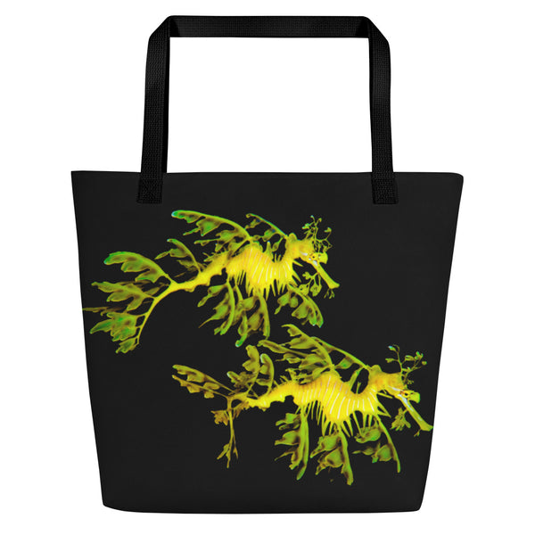 Leafy Sea Couple Dragon  Beach Bag