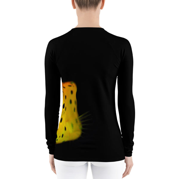 Yellow Spotted Box Fish Women's Rash Guard